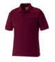 Kids Polo Shirt in burgundy with collar, 2 buttons and flat knit cuffs
