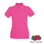 Lady Fit Premium Short Sleeve Polo in pink with collar and 2 buttons