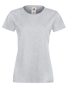 Lady-fit Softspun T in grey with crew neck