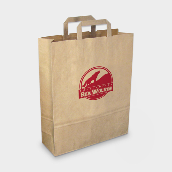Picture of Large Recycled Paper Carrier Bag