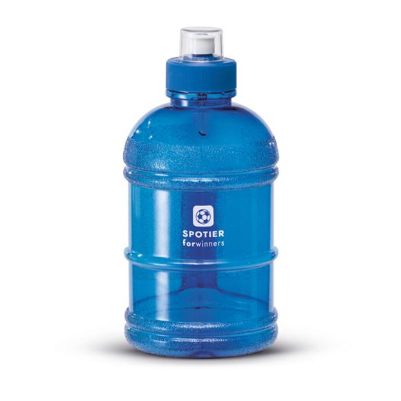 Large sports water bottle blue