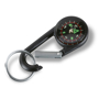 small black lebone compass on a carabiner hook with keyring