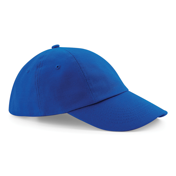 Low Profile Cap in blue with seamless, centralised front panel
