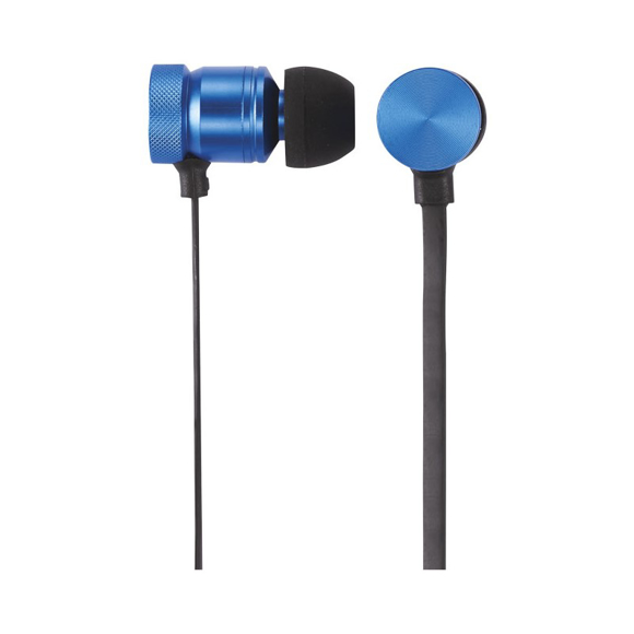 Martell Magnetic Metal Earbuds in blue
