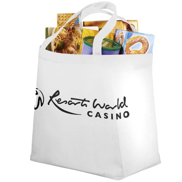 White large shopper bag with company logo