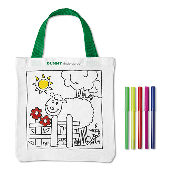 mateusz colouring in tote bag