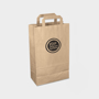 Medium Recycled Carrier in brown with 1 colour print logo