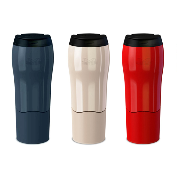 Mighty Mug Go Travel Mug in black, pearl and red