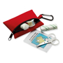 red minidoc first aid kit open