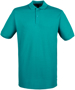 Modern Fit Short Sleeve Polo Shirt in green with collar and 2 buttons