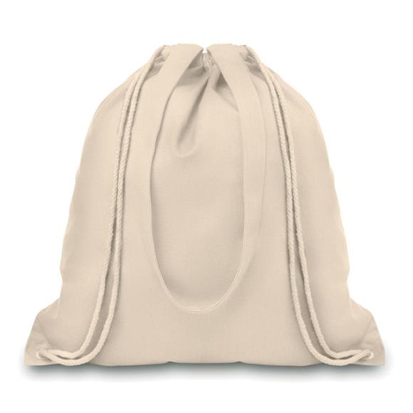 Natural cotton drawstring backpack