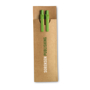 Paper Barrel Pen Set in brown pouch with 2 colour print