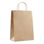 Large sized environmentally friendly gift paper bag in brown