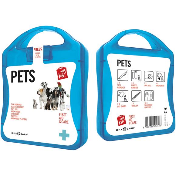 blue pet care kit