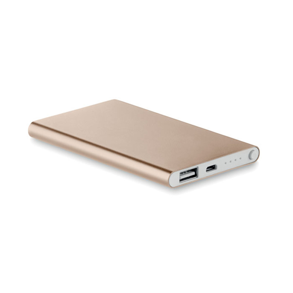 Gold coloured power bank
