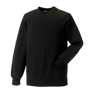 Raglan Sleeve Sweatshirt in black with crew neck