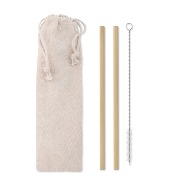 Picture of Reusable Bamboo Straw Set