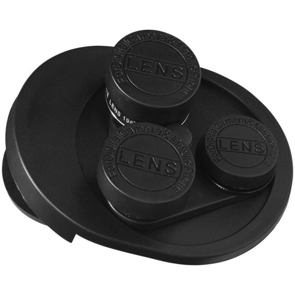 Revolving 4-in-1 Camera Lens Set in black