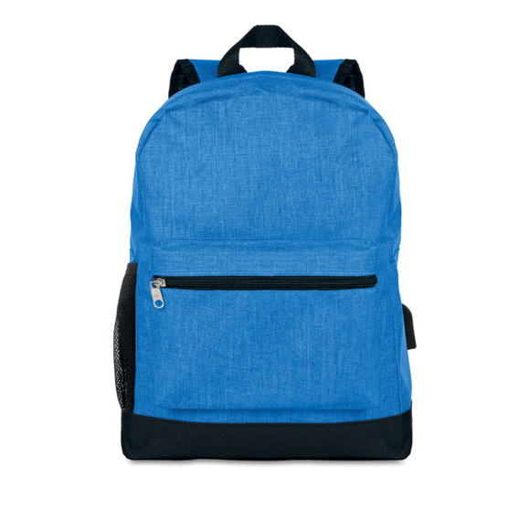 Bapal Tone RFID Rucksack in blue with black details