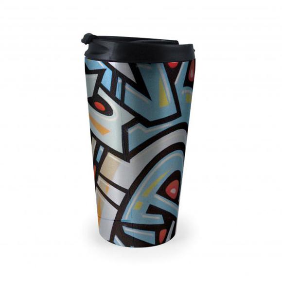 rio travel mug with graphic print
