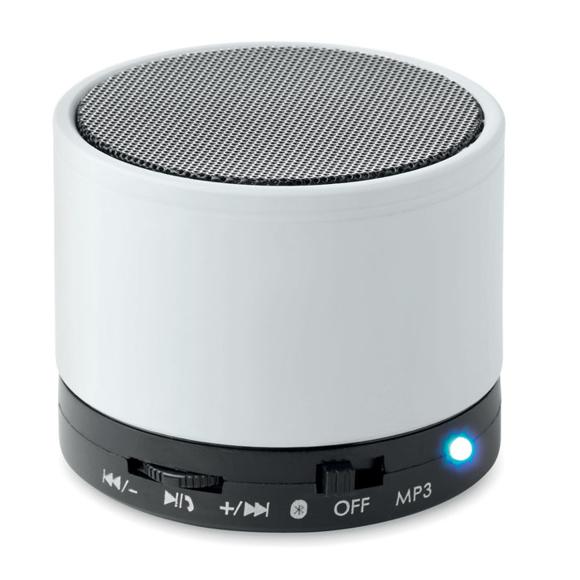 white round bass bluetooth speaker