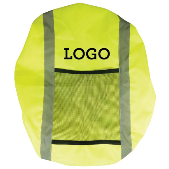 Rucksack Cover in yellow with 1 colour print logo