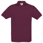 Safran Short Sleeve Polo in burgundy with collar and 3 buttons