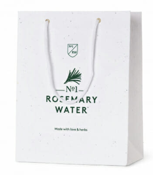 branded paper bag made with seeded paper