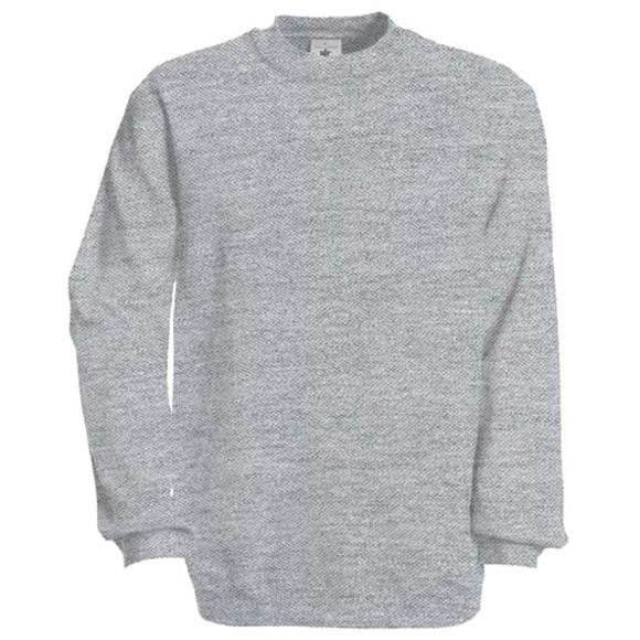 Set-in Sweatshirt in grey with crew neck