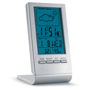 Freestanding digital weather station in silver