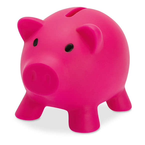 softco piggy bank in pink