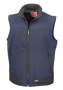 Softshell Bodywarmer in navy with black panels and full front zip