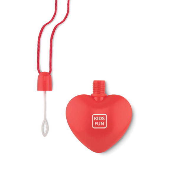 Sopla Heart Bubbles in red with 1 colour print logo