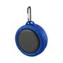 blue splash bluetooth speaker with carabiner