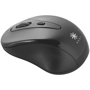 Black promotional wireless mouse with logo printed onto the body
