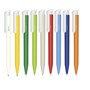 Super Hit Bioplastic Pen in a range of different colours and white clip