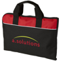 Tampa Conference Bag in black and red with white stripe and 2 colour logo