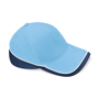 Teamwear Competition Cap in light blue with navy and white contrast trim