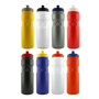 8 promotional teardrop style bottles in different colours