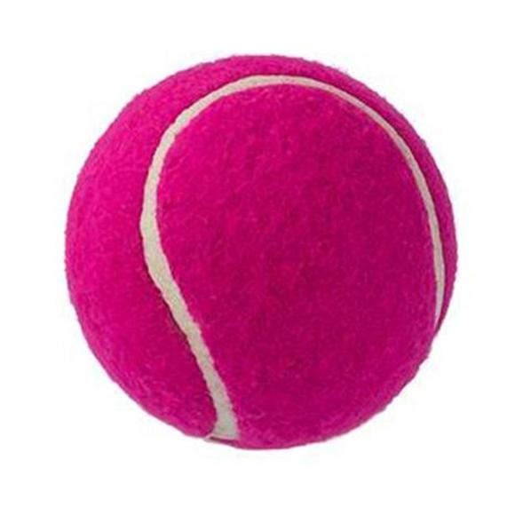 pink dog tennis ball