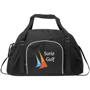Track Sport Duffel in black with full colour print logo
