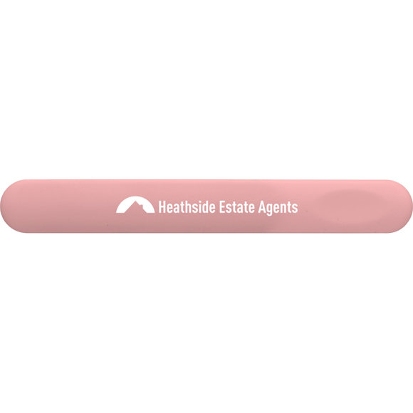 Traditional Nail File in pink with 1 colour print logo