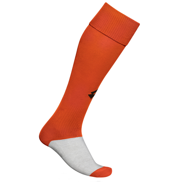 Training Socks  in orange and grey with 1 colour print logo