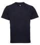 TriDri Panelled Tech Tee in navy with crew neck