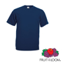 Valueweight Tee in navy with crew neck