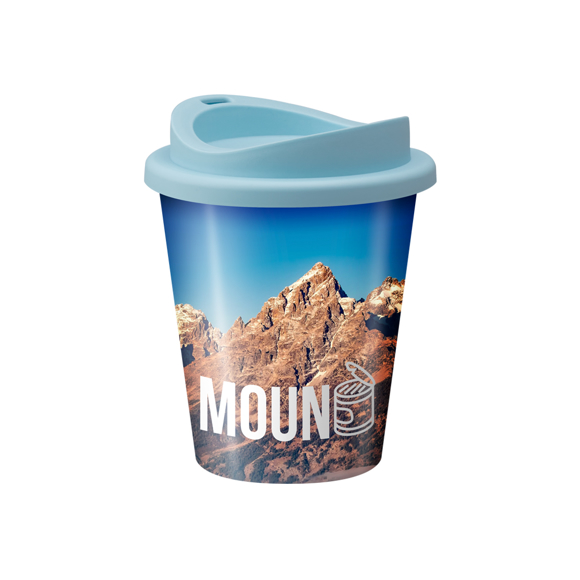 Vending machine cup with full colour wrap around print