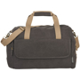 Venture Duffel Bag in charcoal with cream straps