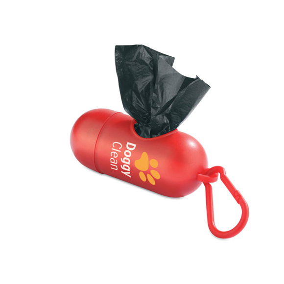 Waste Bags in red with 2 colour print logo