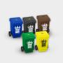 Wheelie Bin Pencil Sharpener in various different colours