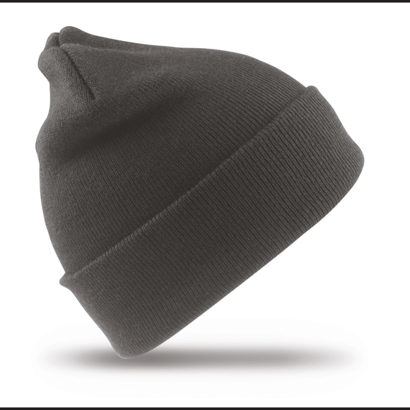 Woolly Ski Hat in grey  with double thickness